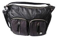 Kipling Messenger Bag Crossbody Shoulder Bag Black Nylon