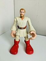 "Star Wars OBI WAN KENOBI Action Figure 2004 Lucasfilm Hasbro Toy 6"" Tall Loose"