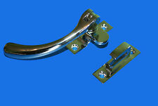 HIGH QUALITY LATCH FRENCH DOOR FASTENER - UK DISPATCH - USED - SILVER