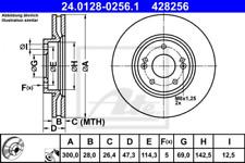 2x Bremsscheibe für Bremsanlage Vorderachse ATE 24.0128-0256.1