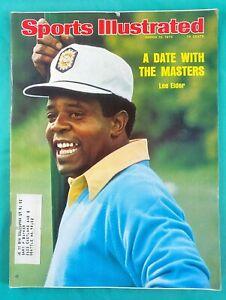 1975 Masters Golf Sports Illustrated - Lee Elder 03/10/75 - Augusta National