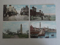 Vintage Postcard. Set of Four of Greenock with stamps (57,58,59,60)