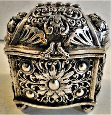 RARE EARLY DUTCH SILVER MARRIAGE CASKET BOX KNOTTEKISTJE 17TH-18TH CENTURY 262 G