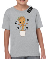 GROOT BABY DANCE KIDS CHILDRENS T-SHIRT TOP GUARDIANS AVENGER HULK FAN (COL)
