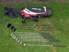 SET OF BEN SAYERS M6 CARBON INFUSED GOLF CLUBS & CARRYING BAG