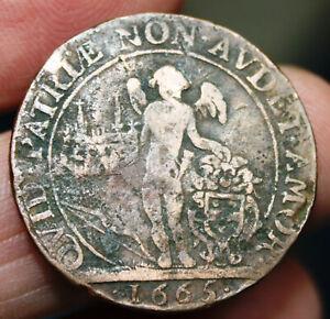 Jeton marqué BENIG BOULIER CON DU ROY VIC MAI DE DIJON et QUID PATRIAE... - 1665