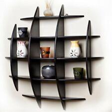 MDF Decorative Floating Wall Shelf, 90x90x16 cm (Black/Brown/Dark Coffe)