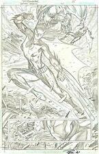 PAUL PELLETIER SIGNED 2020 BATMAN BEYOND, BATWOMAN BEYOND SPLASH ORIGINAL ART!