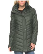 Women's Marc New York Andrew Marc Quilted Walker Hooded Jacket Coat, Olive, M