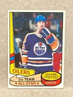 1980 Topps #87 Wayne Gretzky Oilers - 2nd Team All-Star scratched