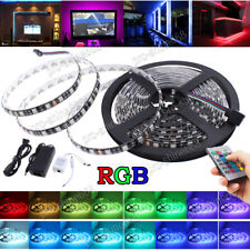 MultiColor LED Glow RGB Strip Light 16FT Kit Kitchen Cabinet Party Lighting Home