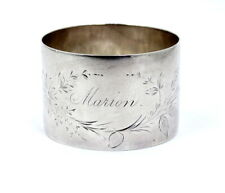 """Antique Victorian 1836 GLASGOW DAISY Sterling Silver NAPKIN RING Holder """"Marion"""""""