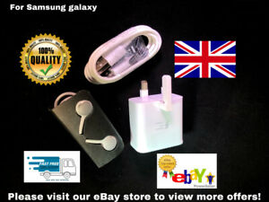 For Samsung Original Charger Plug Sync Micro USB Cable & Headset Android UK TOP