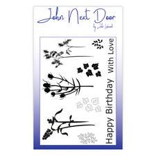 JOHN NEXT DOOR 9 x Clear Stamp Set AUTUMN FLOWERS JND0003 John Lockwood