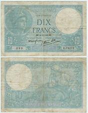 BILLET 10 FRANCS MINERVE EZ 14 11 1940 EZ 593 E 79272