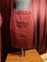 NEW Spiegel Burgundy Pencil Skirt Womens 6 NWT Closet85*