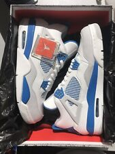 AIR JORDAN 4 	IV RETRO Military Blue Size 12 2012 Release Brand New DS