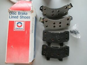 NOS 1980-1989 Buick Olds Chevy Pontiac Front Disc Brake Pads GM 18010986 Delco