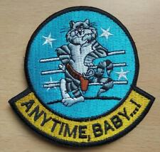 F-14 tomcat patch anytime, baby!  hook and loop vel back Top Gun US Navy