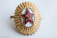 RUSSIAN SOVIET Officer Cockade pin badge heavy metal USSR