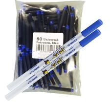 80 Universalpatronen + 2 Tintenlöscher Füller geeignet Lamy Pelikan Kombipatrone