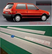 Fiat Uno Turbo i.e. MK1 Side and rear stripes Decals Stickers Restoration