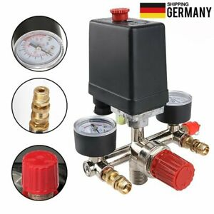 175 PSI Druckregler mit Druckschalter Kompressor Messgeräte Kompressorschalter