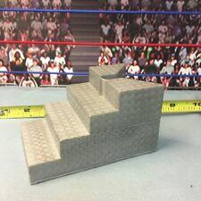 WWE Wrestling Jakks Full Set Upper Lower Ring Steps Stairs Accessory Real Scale