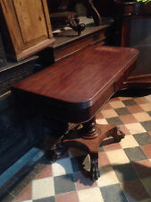 Antique William IV Carved Mahogany Breakfast Table Games Card Side Occasional