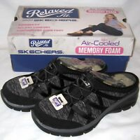 Brand New Sz 7 Skechers Easy Going Repute Mule Relaxed Fit Slip On Black 49316