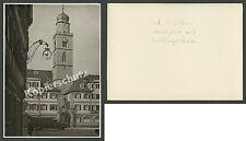o. Foto Marktplatz Bad Mergentheim Apotheke Bank Hotel Reichsbahn-Lastwagen 1937