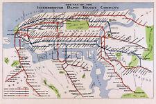 NEW YORK CITY Rapid Transit Co. MAP 1924 Vintage Repro Art Print Poster 24x36