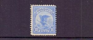 USA 1911 10c REGISTRATION MH  BUT THINNED