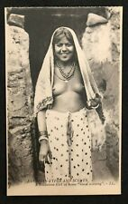 postcard Africa Egypt Woman Nude Soudanese naked girl Good morning  Afrique