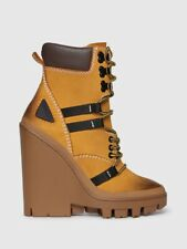 DIESEL D-Vibe MB Leather Ankle Boots Sneaker Wedge Timberland Feel 6