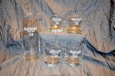 SEAGRAMS EXTRA DRY GIN MARTINI MIXING GLASS AND SET OF 4 TUMBLERS BARWARE