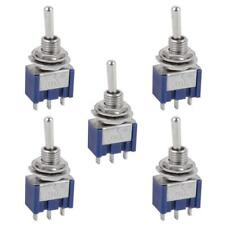 5 Pcs Ac Onoffon Spdt 3 Position Micro Mini Toggle Switch 6 Amp Ac125v