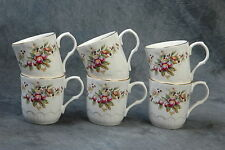 Crown Trent Staffordshire England Coffee or Tea Cups w/ handle 6