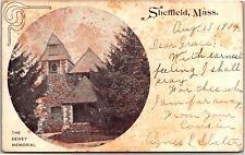 Dewey Memorial, Sheffield Massachusetts c1904 PMC UDB Vintage Postcard K07