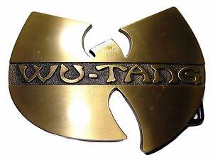 WU-TANG Music Metal Logo Goldtone BELT BUCKLE