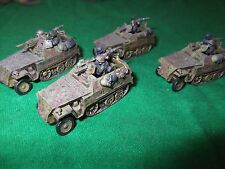 15mm llamas de la guerra fow Battlefront alemán halftracks no4