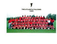 1980 ATLANTA FALCONS TEAM 8x10 PHOTO GEORGIA  FOOTBALL NFL USA