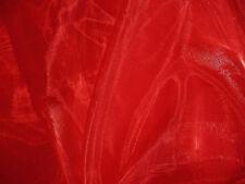 A06 (Per Meter) Red Crystal Mirror Organza Darpping Dress Sheer Fabric Material