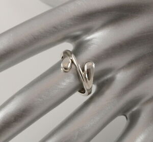 Danish sterling silver ring designed and made by Arne Johansen size N