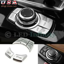 5Pcs New Interior Multi-Media Button Cover Trim For BMW 3 4 5 6 X5 X6 Series