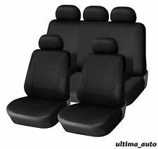 9 PCS FULL BLACK FABRIC CAR SEAT COVERS VW LUPO TIGUAN CADDY PASSAT BORA POLO