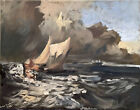 """Nautical Oil Painting Abstract Art Seascape Cloud 16""""x20"""" Original Signed Canvas"""