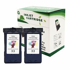 2 PK High Yield 33 18C0033 Color Ink Cartridges for Lexmark X5470 X8350 Printer