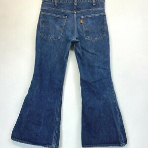 Vintage 1970s Levis Bell Bottoms Jeans Men 684? actual size 32x27 Talon Zip P15