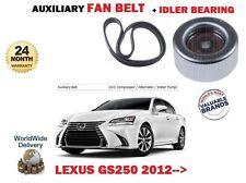 für Lexus GS250 2.5 4GR-FSE 2012- > Hilfs Lichtmaschine Keilriemen + Ritzellager